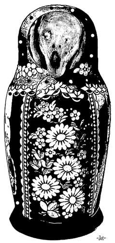 Cartoon: Matryoshka (medium) by zu tagged matrioshka,scream