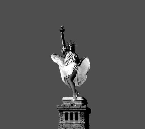 Cartoon: Statue (medium) by zu tagged liberty,statue,monroe
