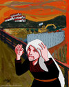 Cartoon: Palestinian Scream (small) by islamashour tagged palestinianthe scream women israeli settlements soldiers palestinian west bank israel politi calcartoonist occupation israelis army activism palestine