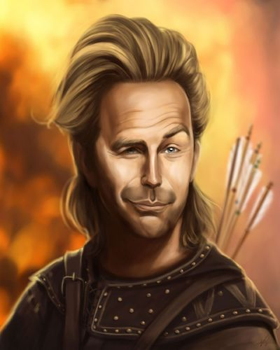 Cartoon: Kevin Costner (medium) by Avel tagged caricature