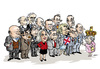 Cartoon: British primeministers (small) by jeander tagged theresa,may,elisabeth,ii,cameron,blair,pm,primeministers,great,britain