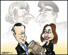 Cartoon: Falklands - 30 years later (small) by jeander tagged falkland,islands,malvinas,cameron,david,christina,kirchner