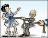 Cartoon: Greece squeeze (small) by jeander tagged greece,papandreou,depth,money,loan