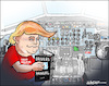 Cartoon: In the cockpit (small) by jeander tagged trump,president,donald,us