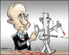 Cartoon: Russia and the Syrian warmachine (small) by jeander tagged russia,syria,putin,baschar,al,assad,export,weapon