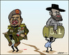 Cartoon: South Sudan. A new nation (small) by jeander tagged al,bashir,sudan,south,salva,kiir,nation,conflict