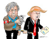 Cartoon: Steve Bannon (small) by jeander tagged trump,bannon,donald,steve,presidenr,us