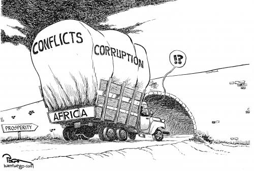 Cartoon: African situation (medium) by Popa tagged 07,1108