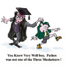Cartoon: Pathos (small) by andybennett tagged andy bennett teachers education pathos three musketeers schoolmaster school