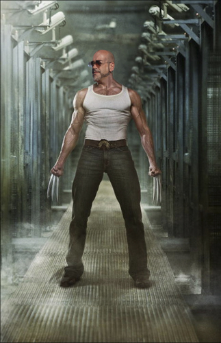 Cartoon: ME WOLVERINE (medium) by GOYET tagged wolverine,photomanipulation,my,self