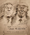 Cartoon: The Kidders (small) by yllifinearts tagged donald,trump,republicans,gop,pol,rayan,usa,health,insurance