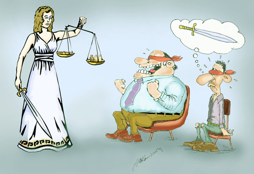 Cartoon: Themis (medium) by hakanipek tagged poor,and,rich,injustice,justice,themis