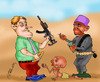 Cartoon: HUMANITARIAN AID (small) by hakanipek tagged poverty,hunger,humanity,africa