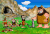 Cartoon: the transfer rules of the cave (small) by hakanipek tagged primitive,prehistoric,stone,cave,barbarism