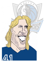 Cartoon: Dirk Nowitzki (small) by Liam tagged basketball
