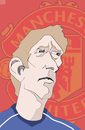 Cartoon: Edwin van der Sar (small) by Liam tagged football,england,sports,manu,manchester,united,premier,league,abschied,torwart