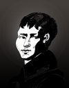 Cartoon: Heinrich von Kleist (small) by Liam tagged kleist