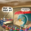 Cartoon: Blaskonzert (small) by neufred tagged wal oper theater trompete walfang kapitän harpune