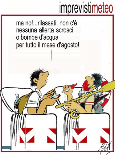 Cartoon: cassonettari in vacanza (medium) by Enzo Maneglia Man tagged cassonettari,man,maneglia,fighillearte