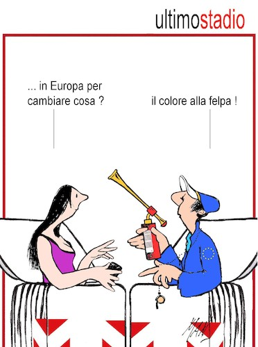 Cartoon: europee 2019 ultimo stadio (medium) by Enzo Maneglia Man tagged vignette,umorismo,grafico,satira,ue,europee,2019,maneglia,man,fighillearte,piccolomuseo