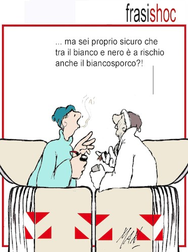 Cartoon: Frasi shoc (medium) by Enzo Maneglia Man tagged vignetta,umorismo,grafico,politica,italiana,fighillearte,maneglia,man