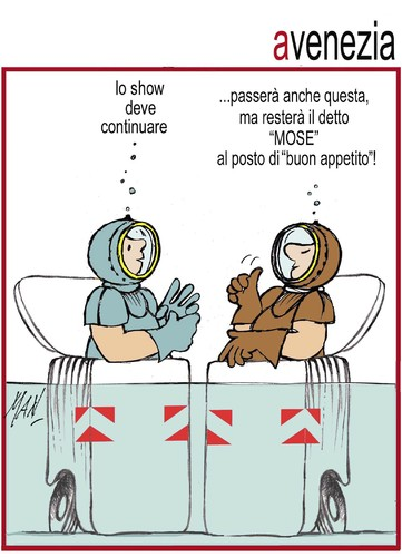 Cartoon: Mose 3 (medium) by Enzo Maneglia Man tagged cassonettari,man,maneglia,fighillearte