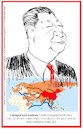 Cartoon: Xi Jinping (small) by Enzo Maneglia Man tagged caricature,grafiche,xi,jinping,presidente,cinese,personaggi,illustrazioni,politica,maneglia,man