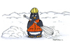 Cartoon: Schneebesen (small) by JGT tagged pinguin,schneebesen