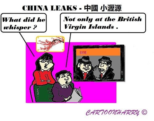 Cartoon: ChinaLeaks (medium) by cartoonharry tagged china,chinese,suspicious,leaders