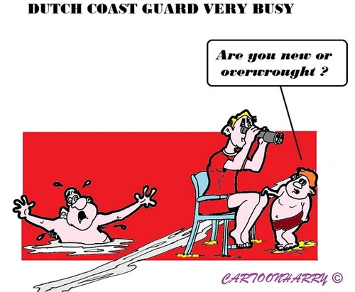 Cartoon: Coastguard (medium) by cartoonharry tagged holland,dutch,coastguard,busy,toonpool
