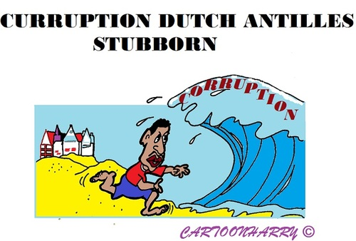 Cartoon: Corruption Dutch Antilles (medium) by cartoonharry tagged corruption,antilles,dutch,heading,cartoons,cartoonists,cartoonharry,toonpool