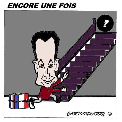 Cartoon: Encore une fois (medium) by cartoonharry tagged sarkozy,france,one,time,cartoon,cartoonist,cartoonharry,dutch,toonpool