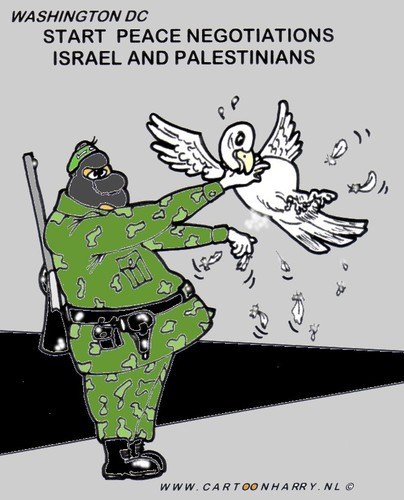 Cartoon: Hamas Peace (medium) by cartoonharry tagged hamas,peace,israel,palestinians,cartoonharry,pigeon
