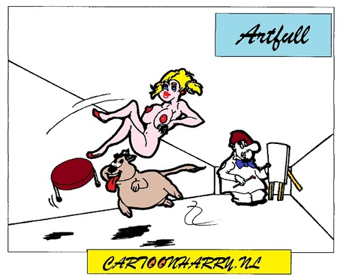 Cartoon: Persecution (medium) by cartoonharry tagged arts,girls,nude,cartoonharry,dutch,cartoonist,toonpool