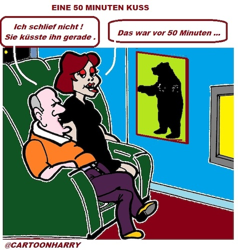 Cartoon: Schläfrich (medium) by cartoonharry tagged schläfrich,fernsehen