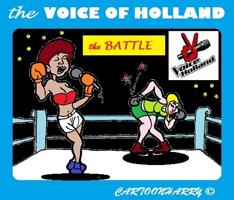 Cartoon: The Battle (medium) by cartoonharry tagged voice,holland,battle,cartoonharry