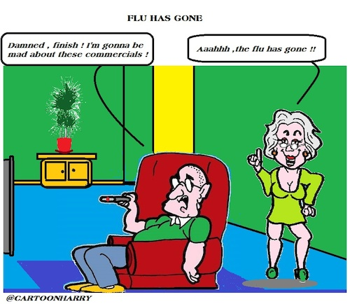 Cartoon: The Flu (medium) by cartoonharry tagged flu,cured