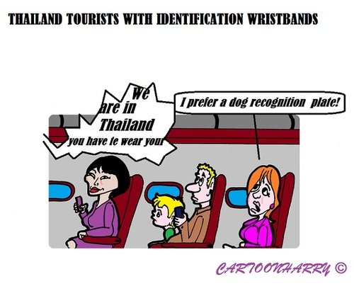 Cartoon: Tourist Wristbands (medium) by cartoonharry tagged thailand,wristband,tourist