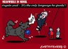 Cartoon: Behind the Scene (small) by cartoonharry tagged ukraine,crisis,minsk,russia,putin,merkel,dog,barking,language,nato