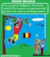 Cartoon: Belgian Leaves (small) by cartoonharry tagged belgium,belgian,tree,autumn,fall,down