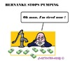 Cartoon: Bernanke (small) by cartoonharry tagged usa,fed,bernanke,tired