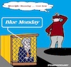 Cartoon: Blue Monday (small) by cartoonharry tagged maandag,monday,2018