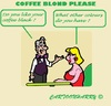 Cartoon: Coffee Blond (small) by cartoonharry tagged coffee,blond,black,colour