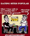 Cartoon: Dating Sites (small) by cartoonharry tagged datingsites,popular,cartoonharry