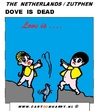 Cartoon: Dove is Dead (small) by cartoonharry tagged dead dove holland zutphen cartoon cartoonist cartoonharry dutch toonpool