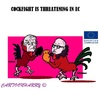 Cartoon: EC Cock Fights (small) by cartoonharry tagged europe,ec,cockfights,juncker,timmermans