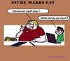Cartoon: Fat Making Study (small) by cartoonharry tagged fat,study,university,students,eat,cartoons,cartoonists,cartoonharry,dutch,toonpool
