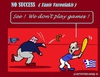 Cartoon: Greece Games (small) by cartoonharry tagged europe,greece,varoufakis,dijsselbloem,games,finances
