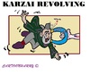 Cartoon: Hamid Karzai (small) by cartoonharry tagged hamidkarzai,karzai,afghanistan,usa,taliban,negotiations,turning,cartoonharry,toonpool