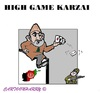 Cartoon: Karzai (small) by cartoonharry tagged afghanistan,usa,karzai,obama,game
